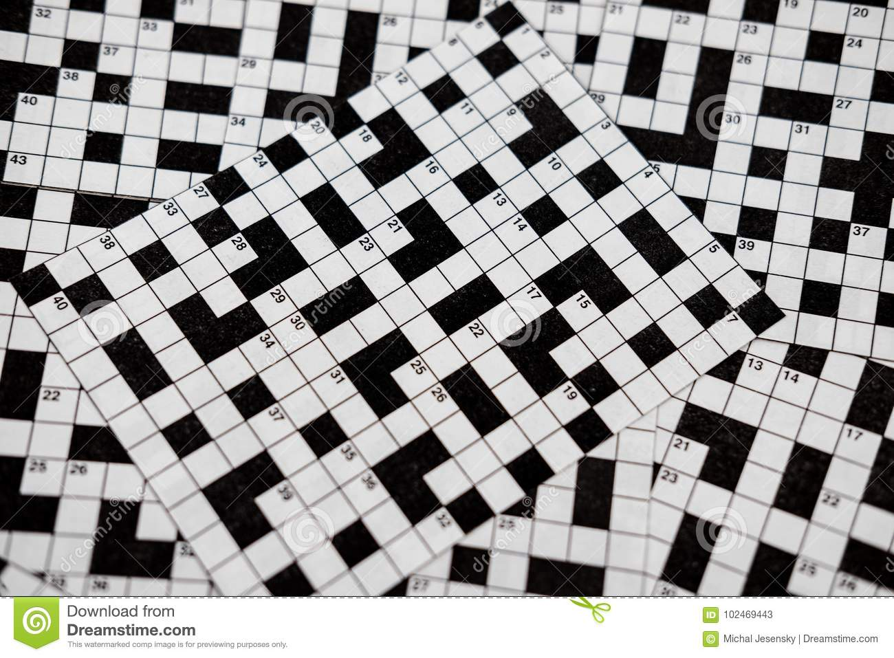 Crossword puzzles stock image. Image of fill, mystery ...