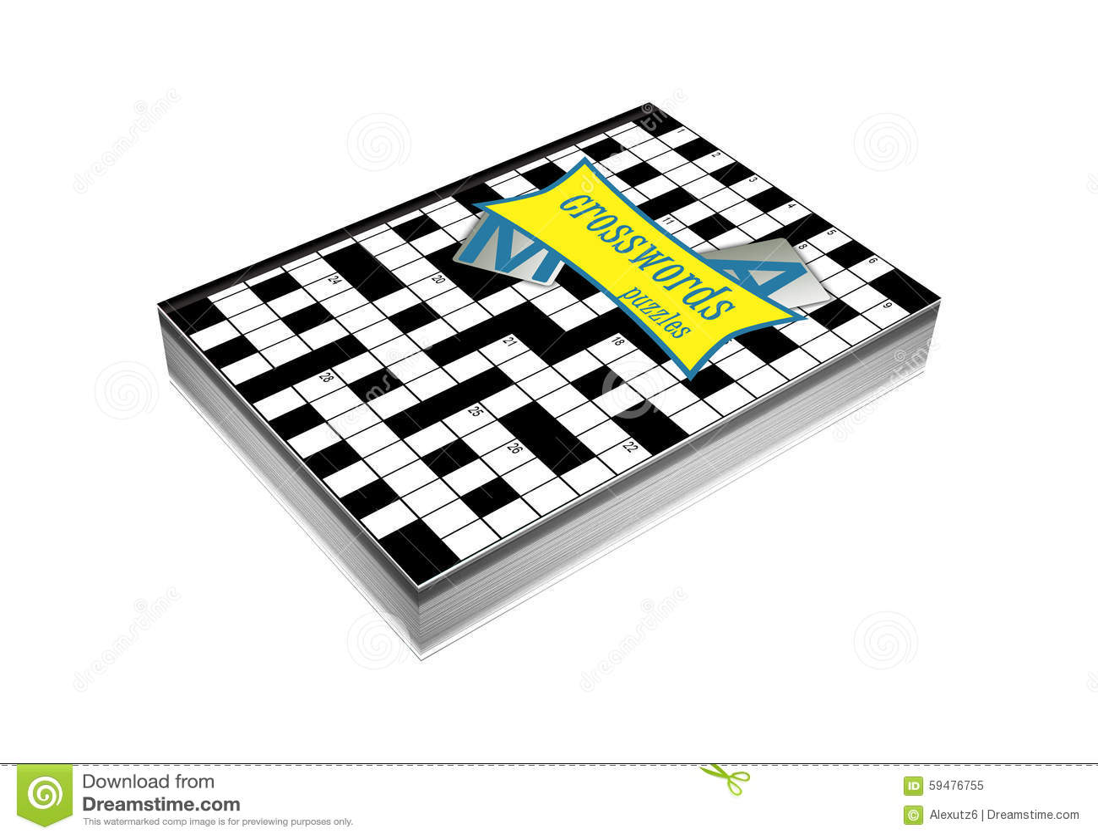 Book Cover Portadas Crossword ~ Crosswords book cover stock illustration image