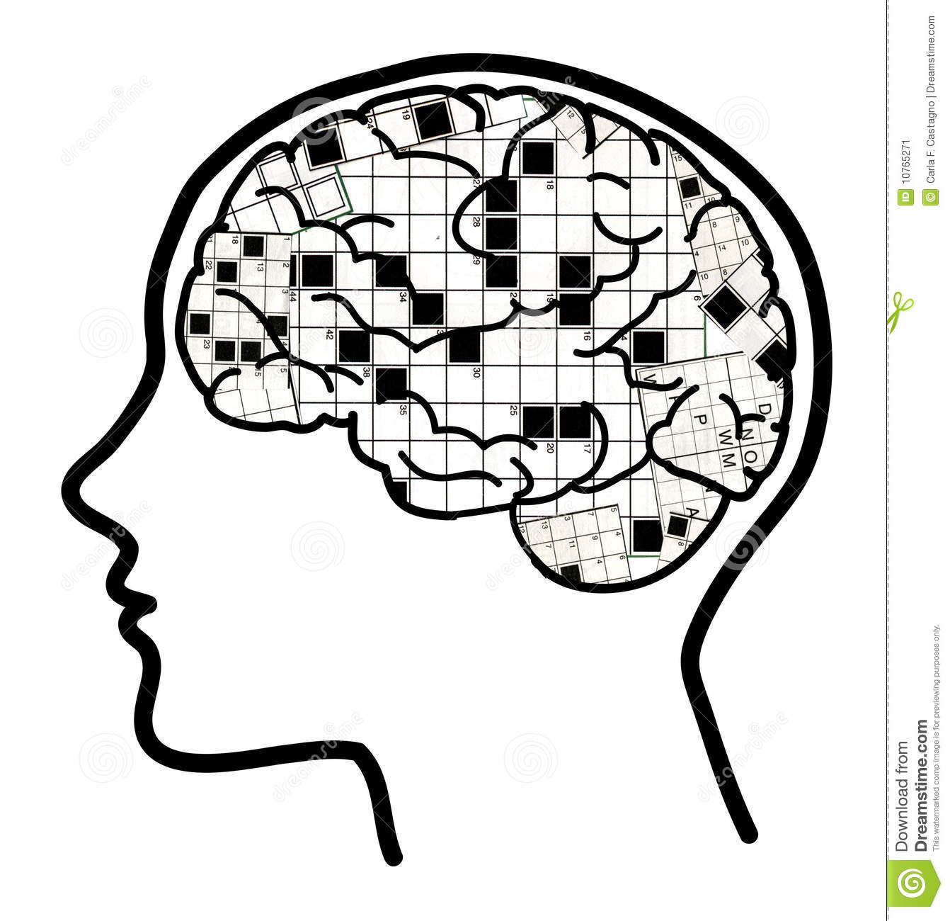 Crossword In Brain Collage