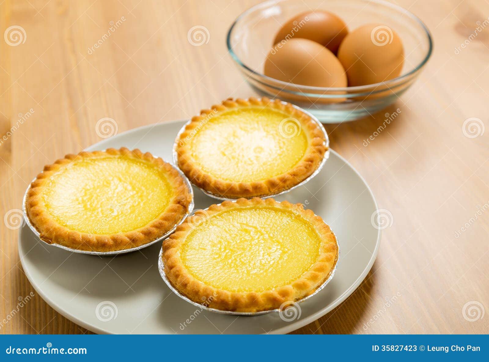 Crostata dell uovo ed uovo