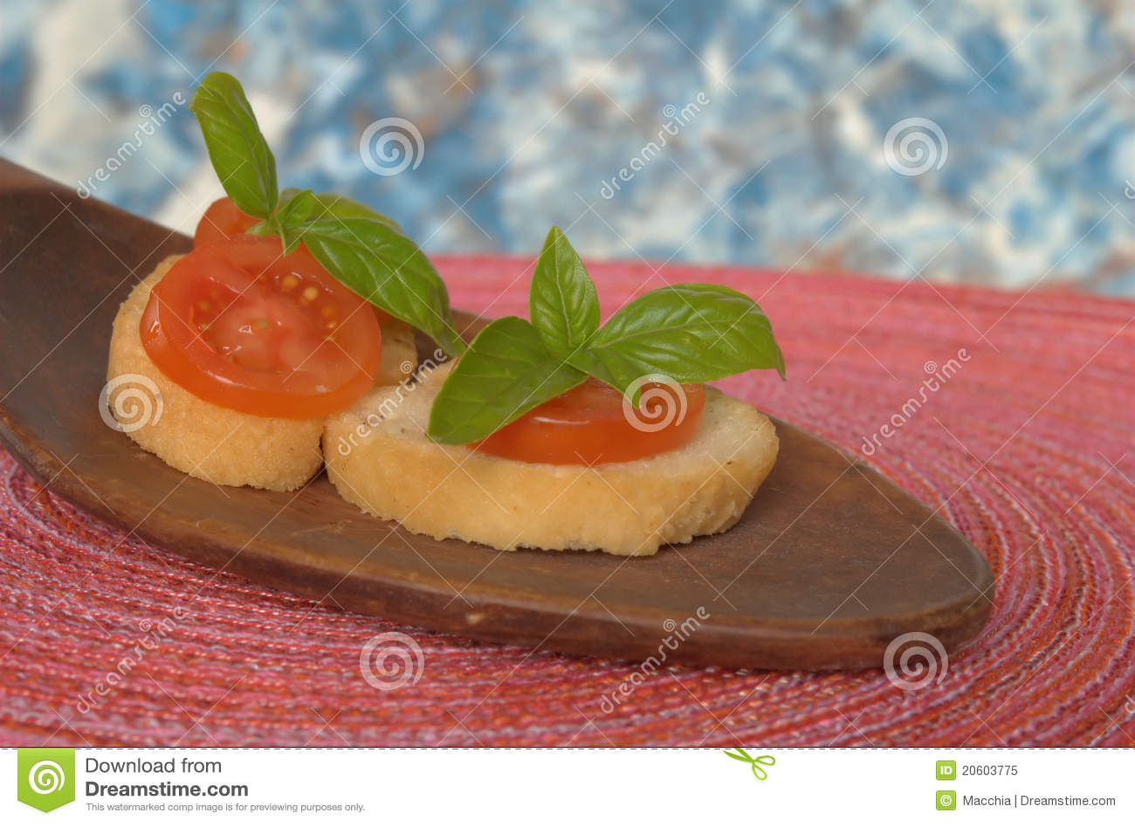Crostini With Tomato Royalty Free Stock Photo - Image: 20603775