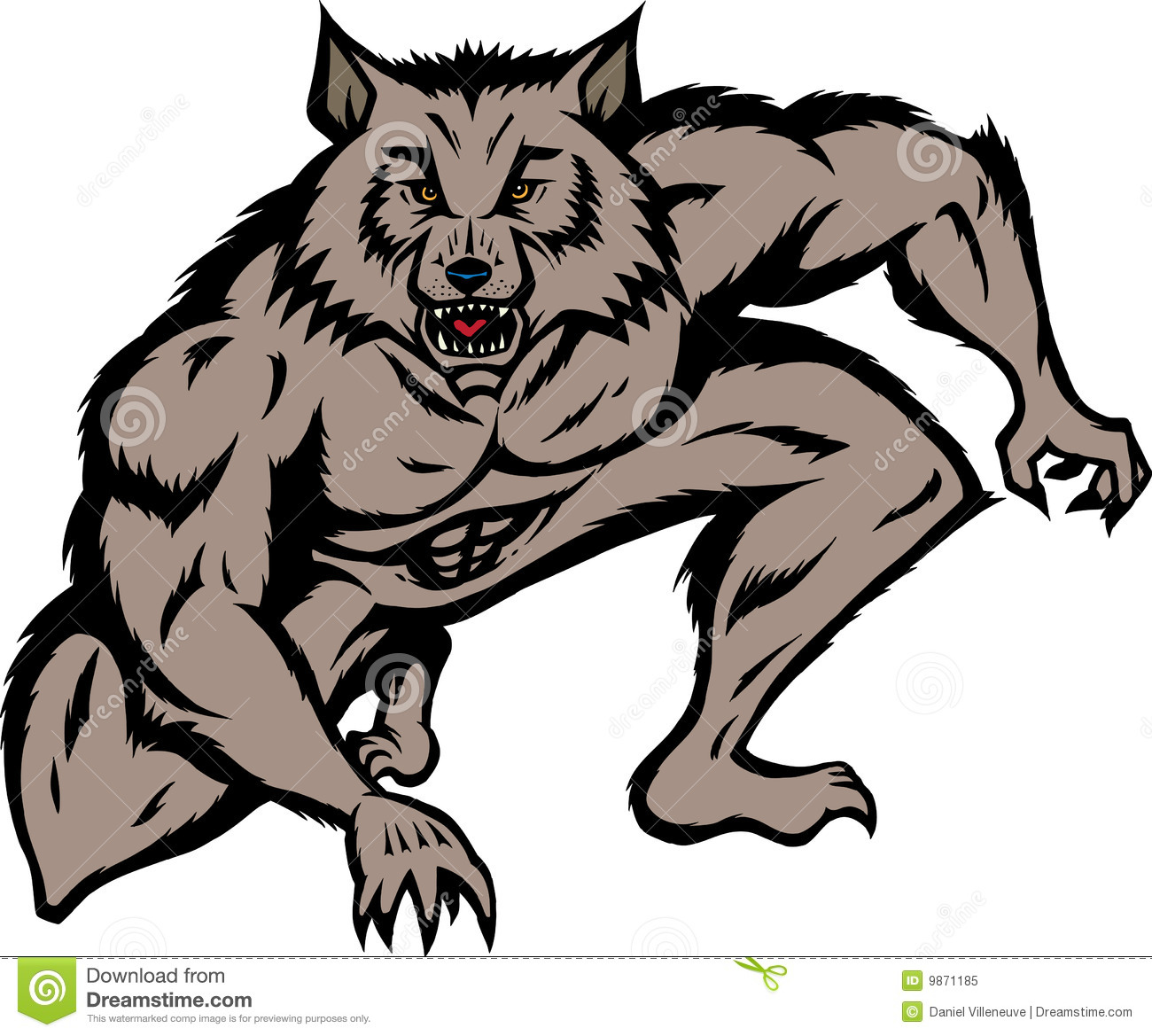 crouched werewolf royalty free stock photo image 9871185