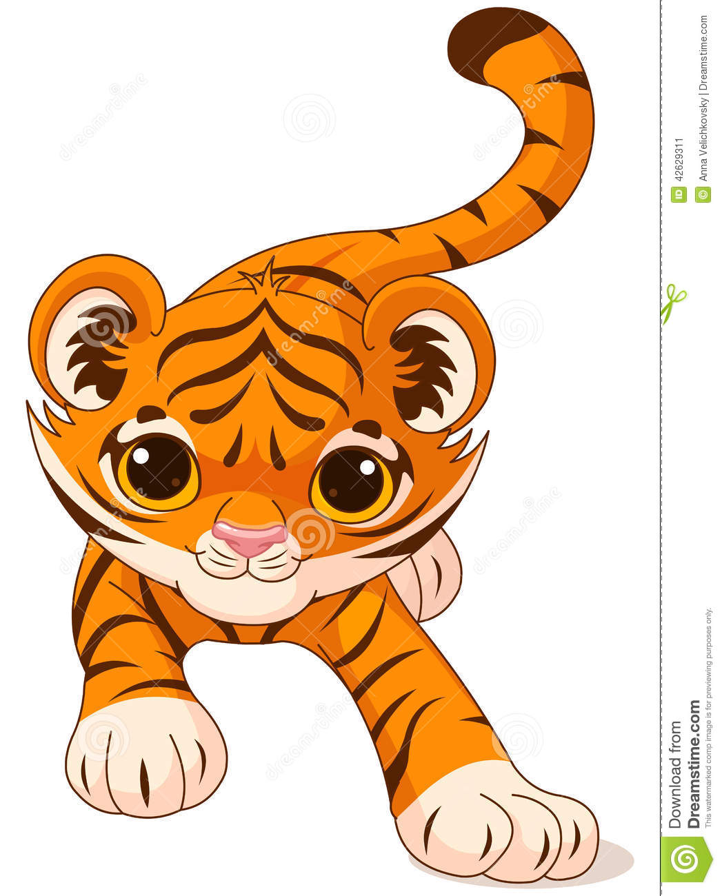 Crouching Baby Tiger S...