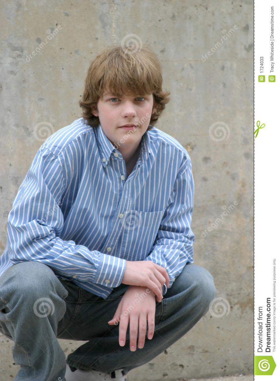 Crouching Boy Stock Image Image Of Space Cool Person