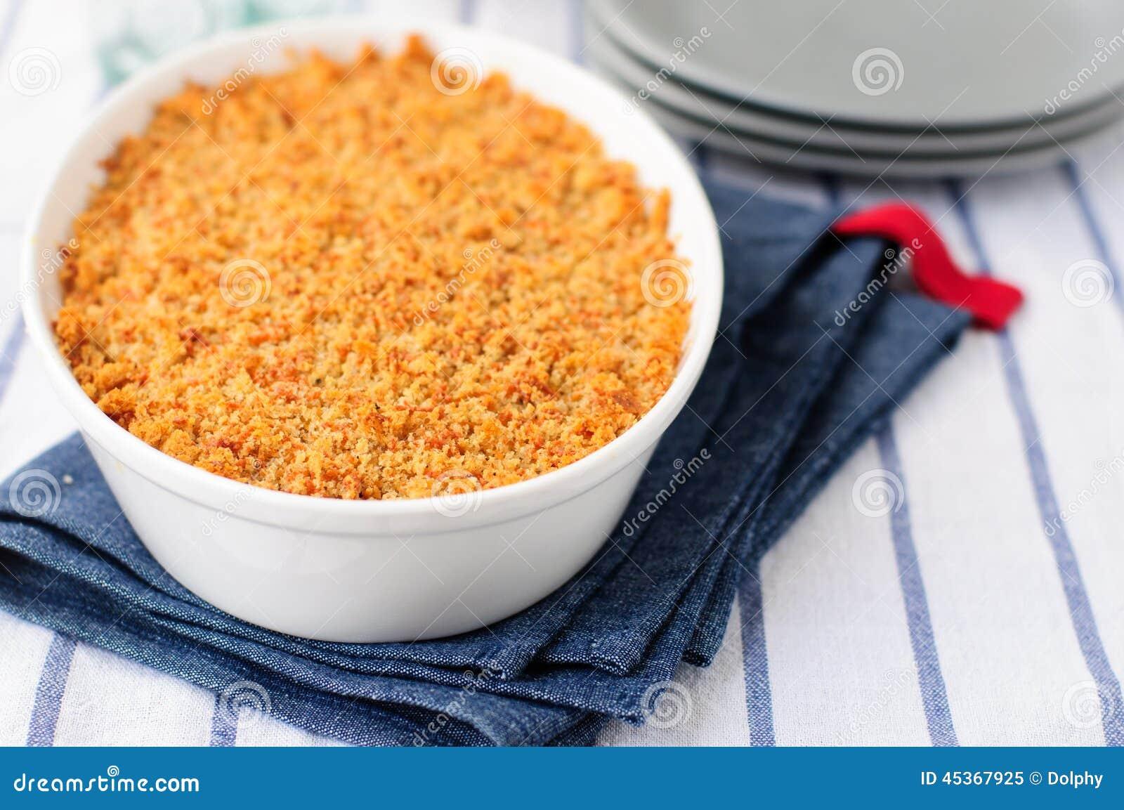 Croustillant de pain et de fromage
