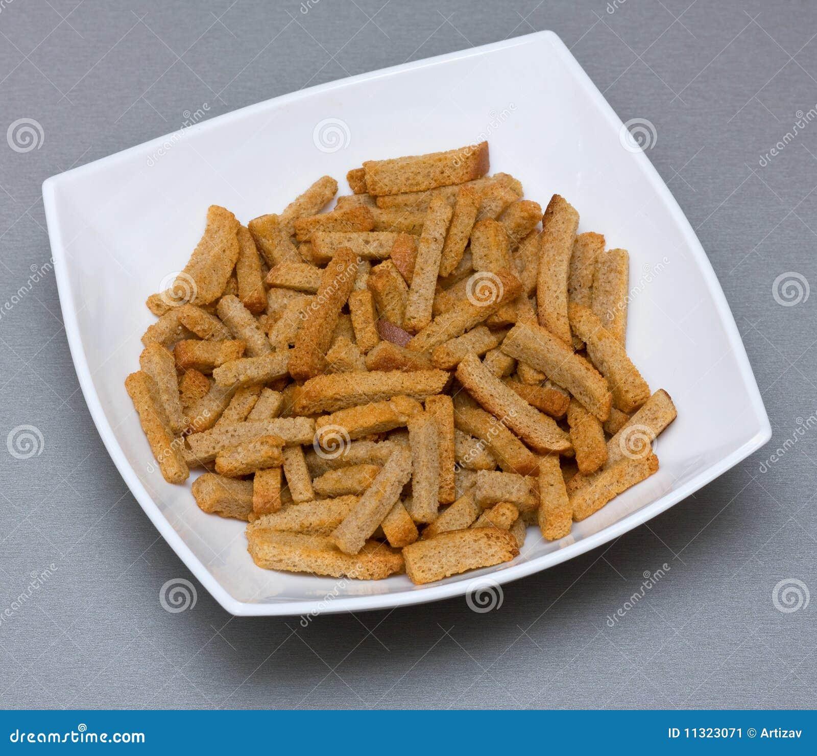 Croutons in der Platte