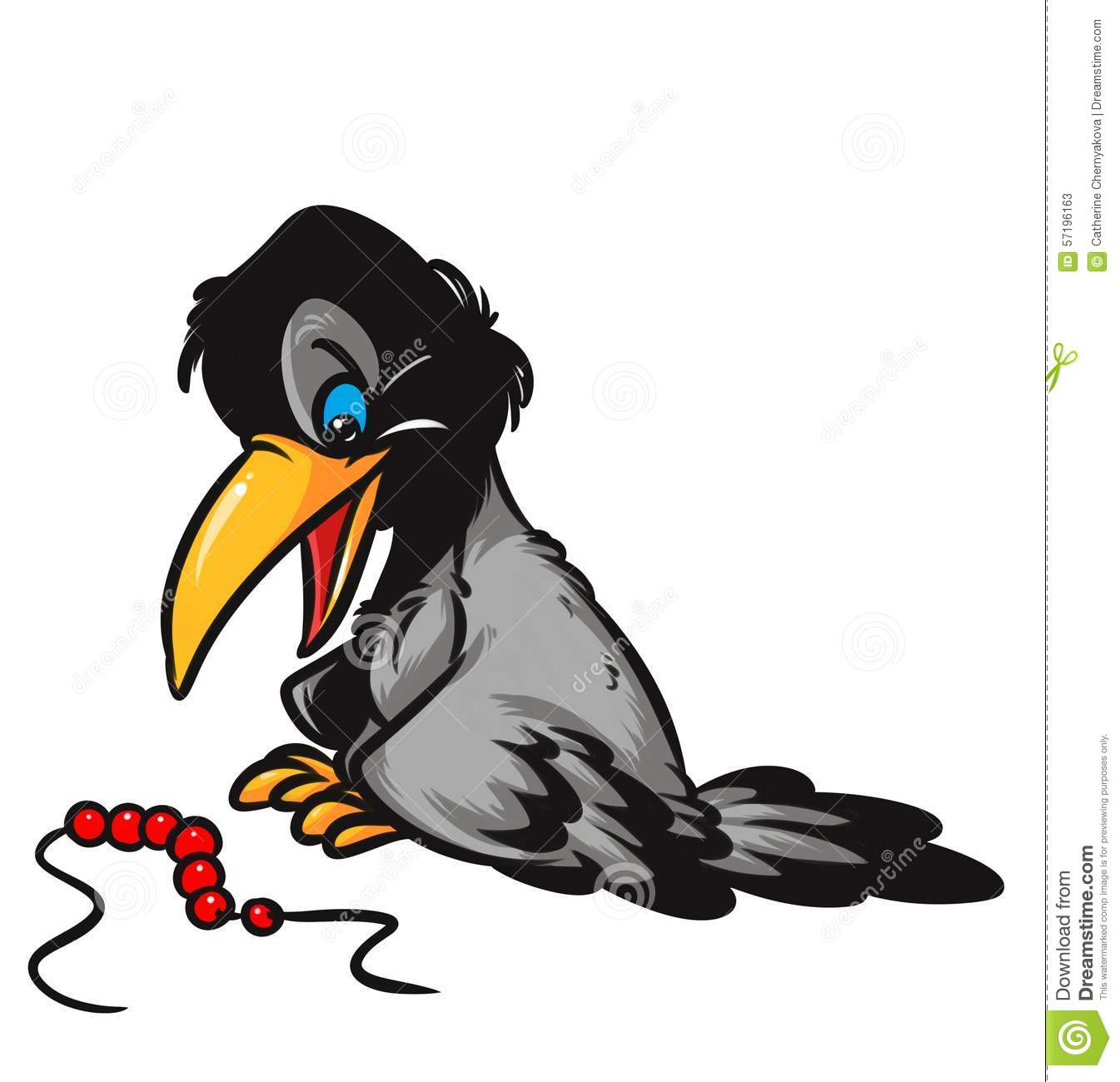 2 Crows Cartoon Characters : Crow beadscartoon illustration stock image