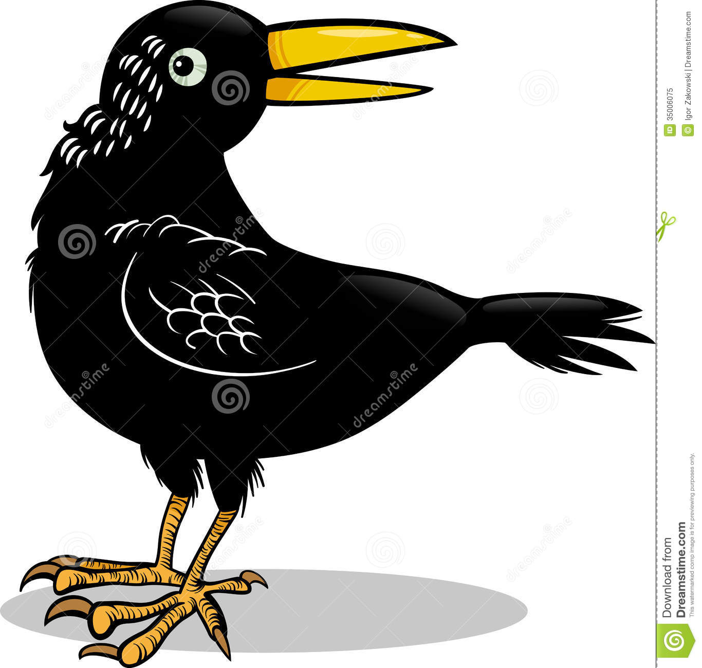 Three black crows cartoon