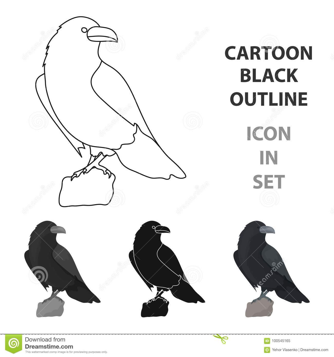 Crow of viking god icon in cartoon style isolated on white crow of viking god icon in cartoon style isolated on white background vikings symbol stock vector illustration biocorpaavc