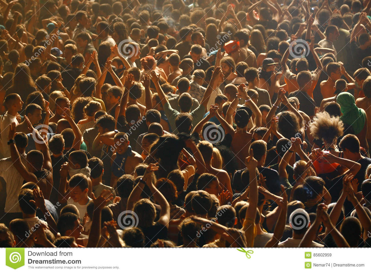 Crowd from the bird`s perspective