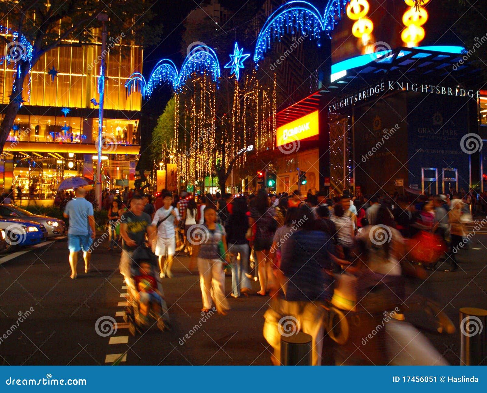 Crowd at Christmas Light Up
