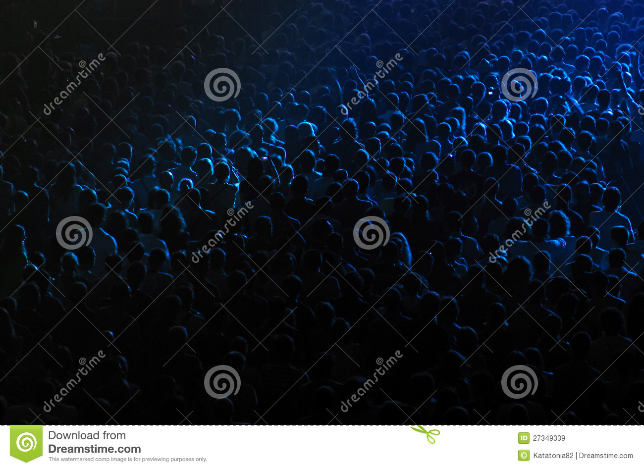 Crowd in a concert hall