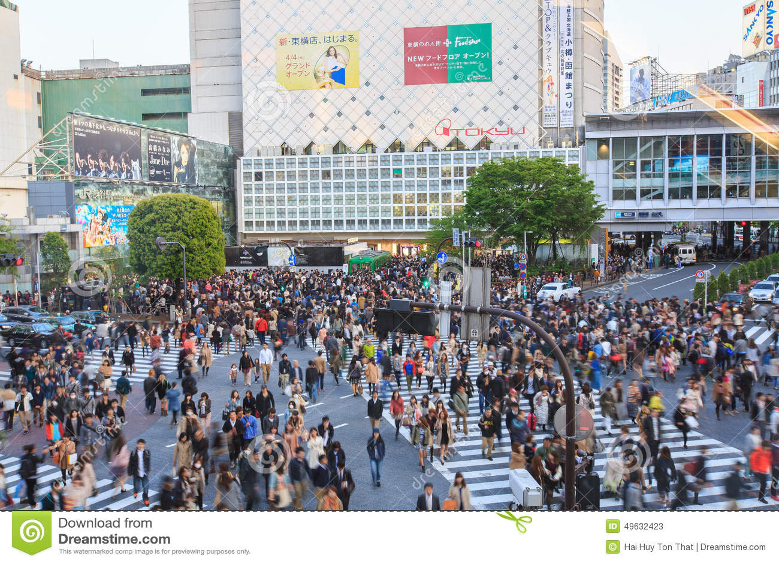Crowd Crossing Street Editorial Stock Photo - Image: 49632423
