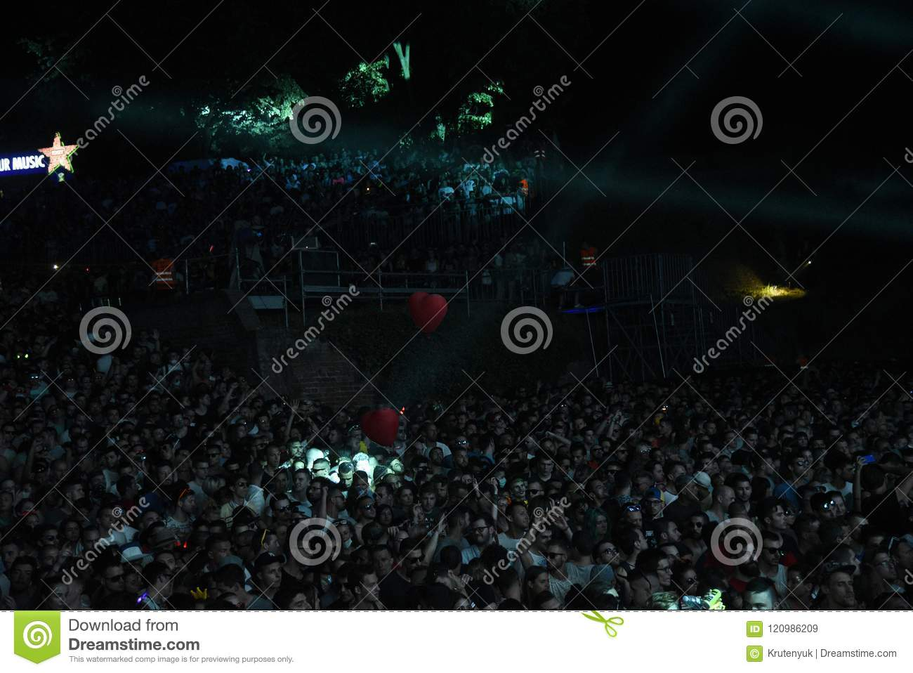 Crowd on Dance Arena stage at EXIT Music Festival