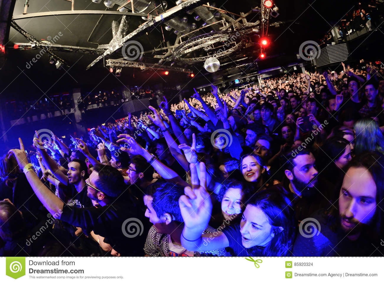 Crowd at the discotheque
