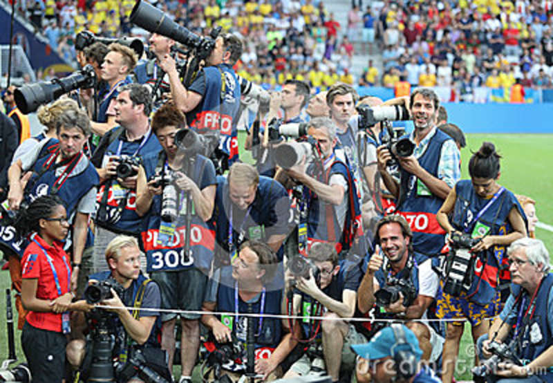 crowd of sports photographers before the football match editorial image image of equipment. Black Bedroom Furniture Sets. Home Design Ideas