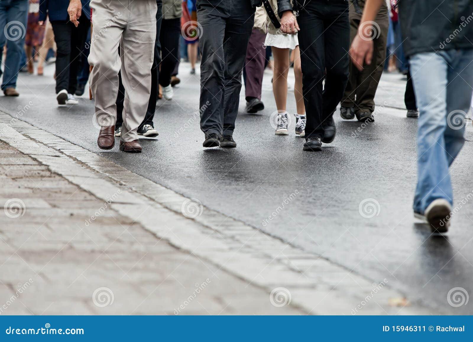Crowd walking stock image  Image of asphalt, street, walk