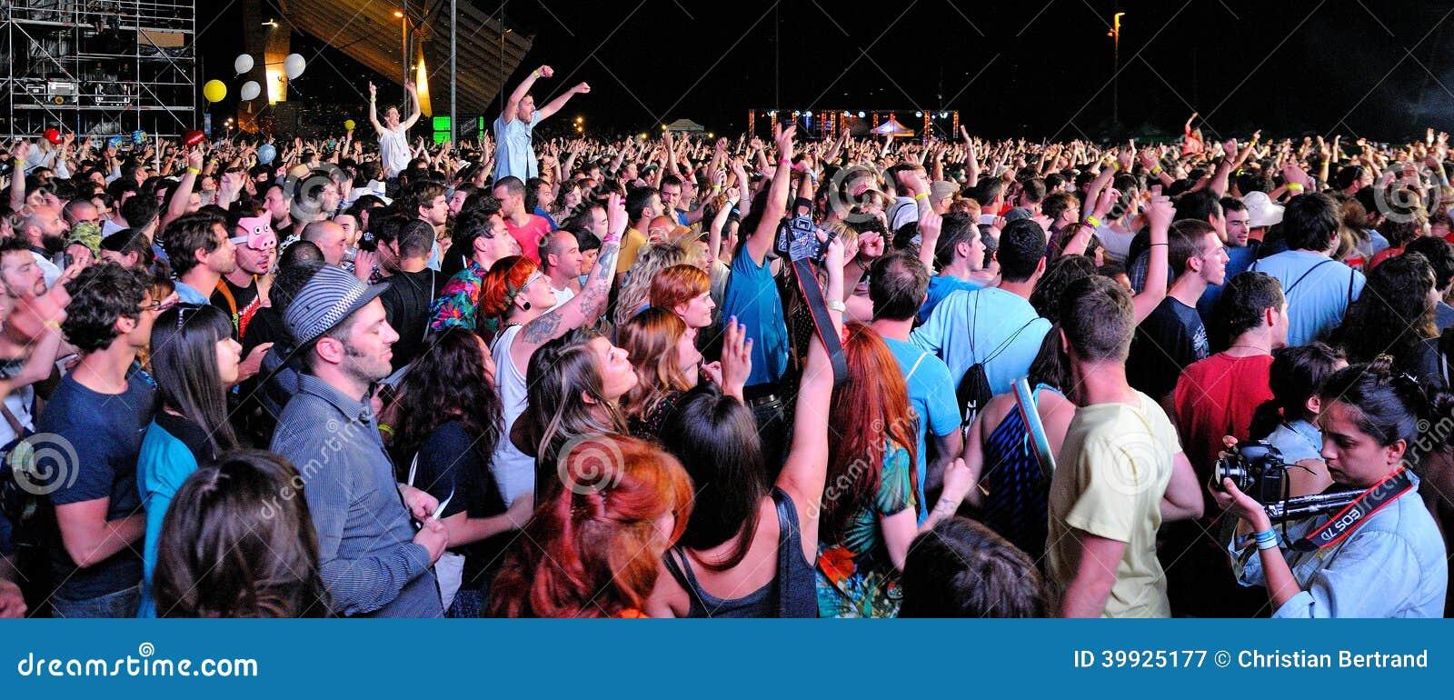 Crowd Watching A Show Editorial Image | CartoonDealer.com ...
