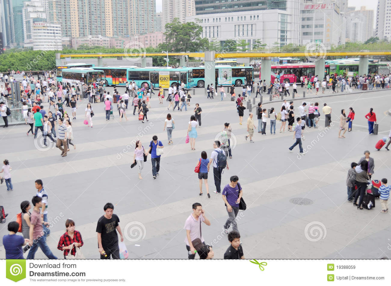 Crowded City Editorial Stock Image Image 19388059