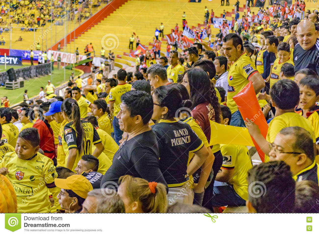 Crowded Grandstand Of Barcelona Guayaquil Fans Editorial Photography Image Of Grandstand Isidro 78157097