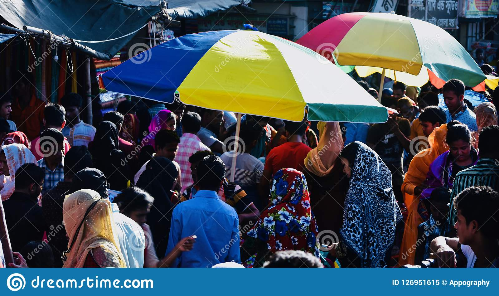 A crowded marketplace in Bangladesh unique photo