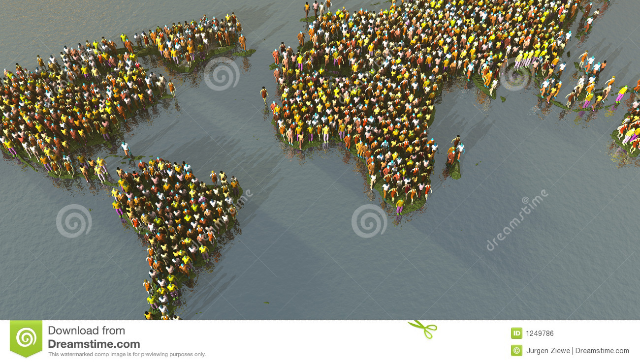 crowded planet royalty free stock image