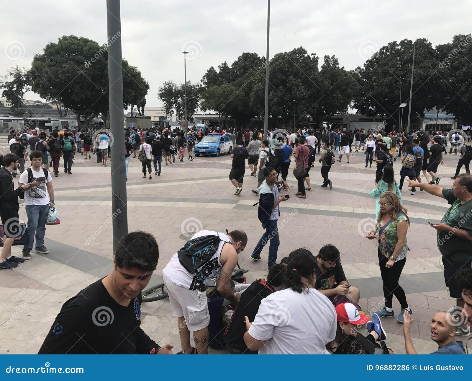 Crowded Pokemon Go Hotspot stock photo  Image of spot - 96882286