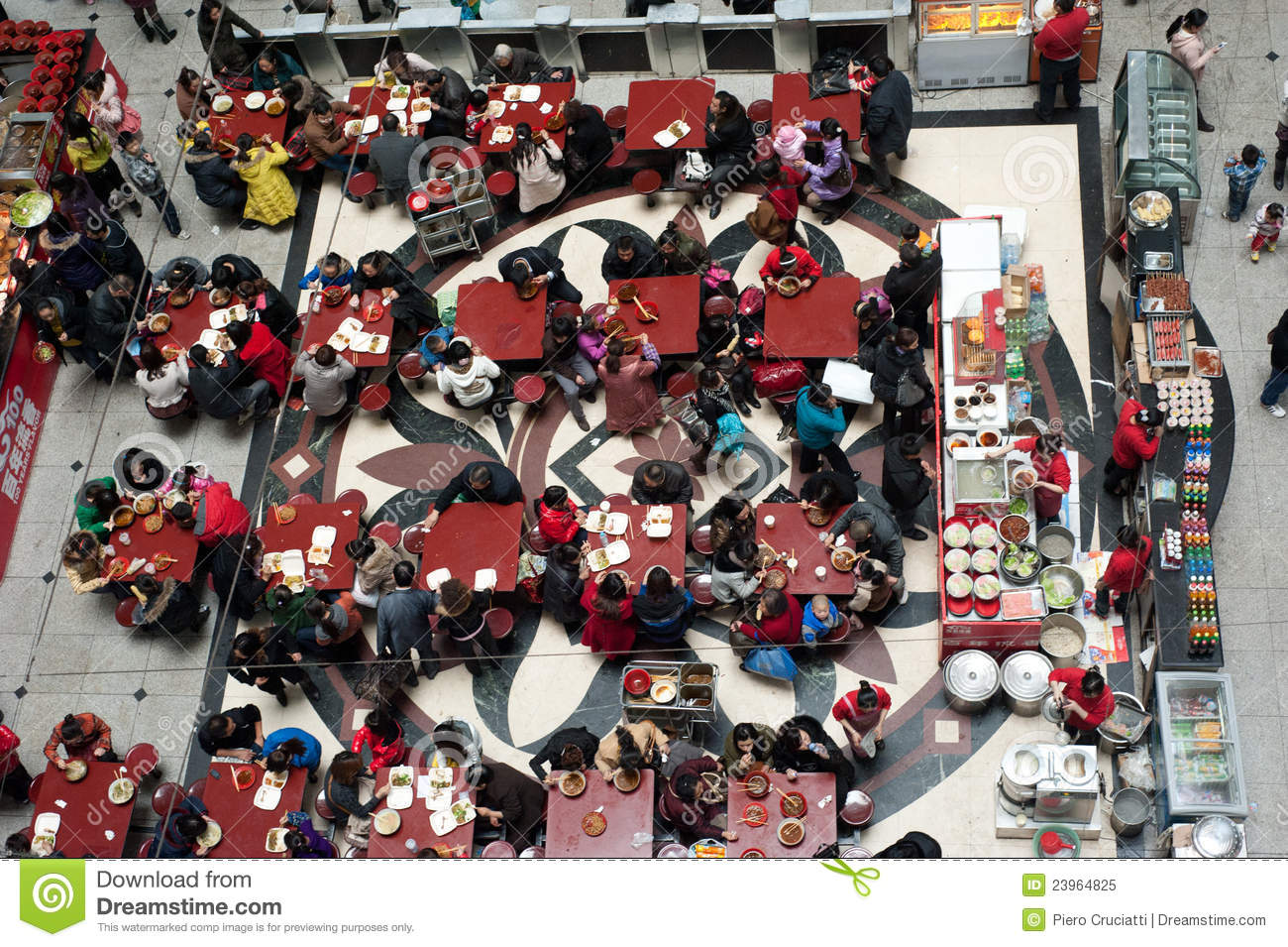 Crowded restaurant table - Crowded Restaurant Editorial Image