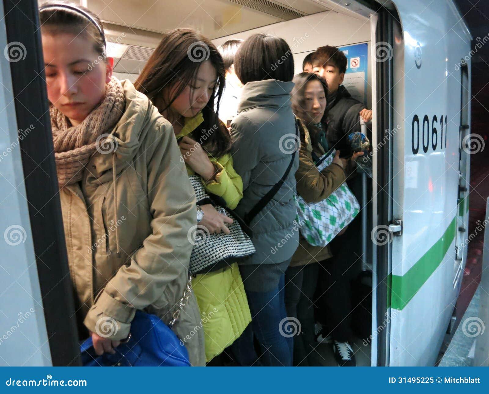 Crowded Subway Editorial Image Image 31495225