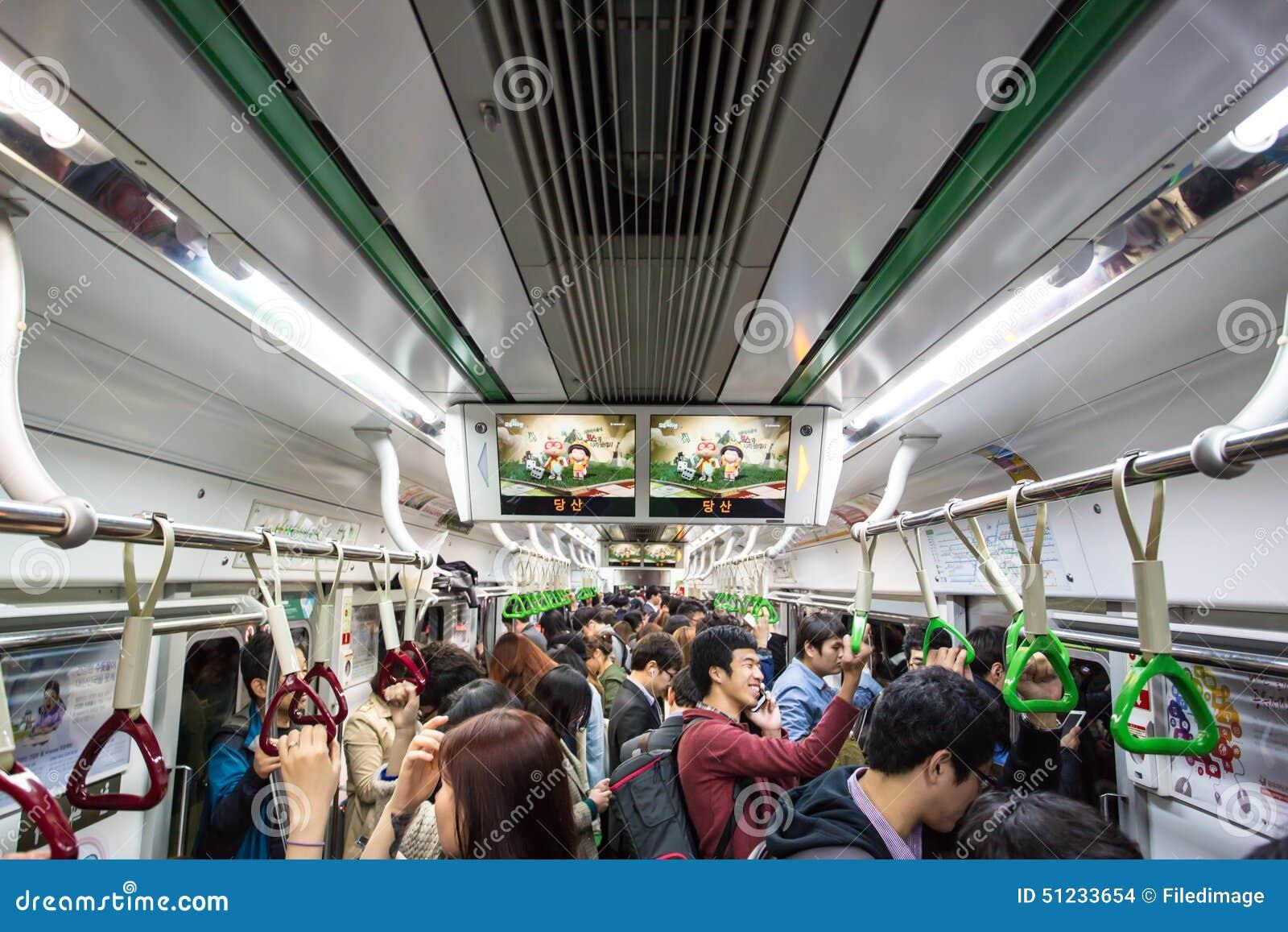 Crowded subway editorial stock image image 51233654 - Carrage metro ...