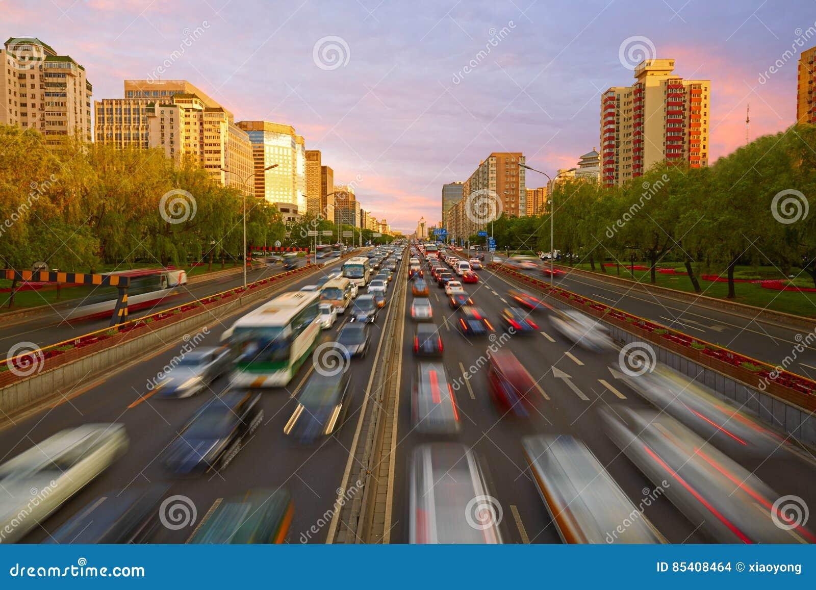Crowded traffic, Beijing