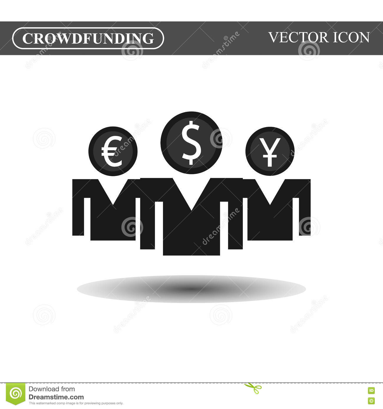 crowdfunding icon stock illustration illustration of businessman