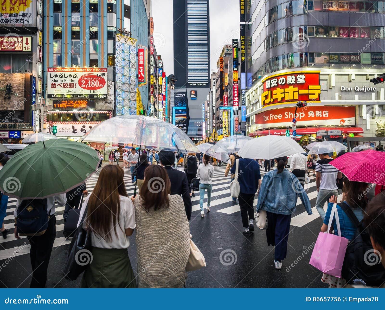 Crowds at Crossing in Japan