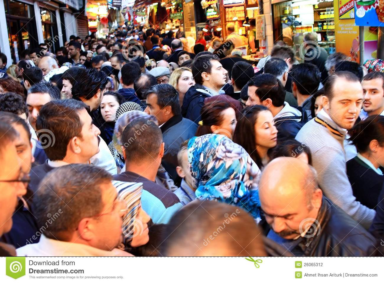 Crowds at Tahtakale, Istanbul