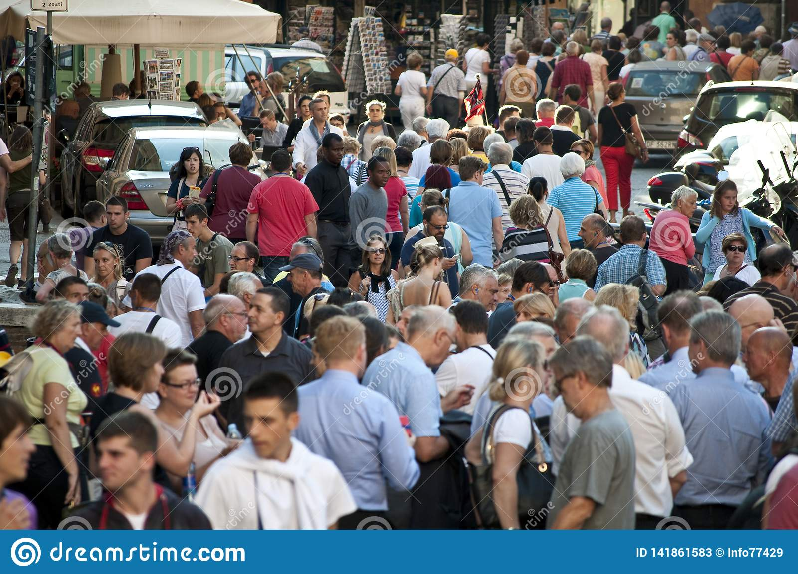 Crowds of tourists, Rome, Italy