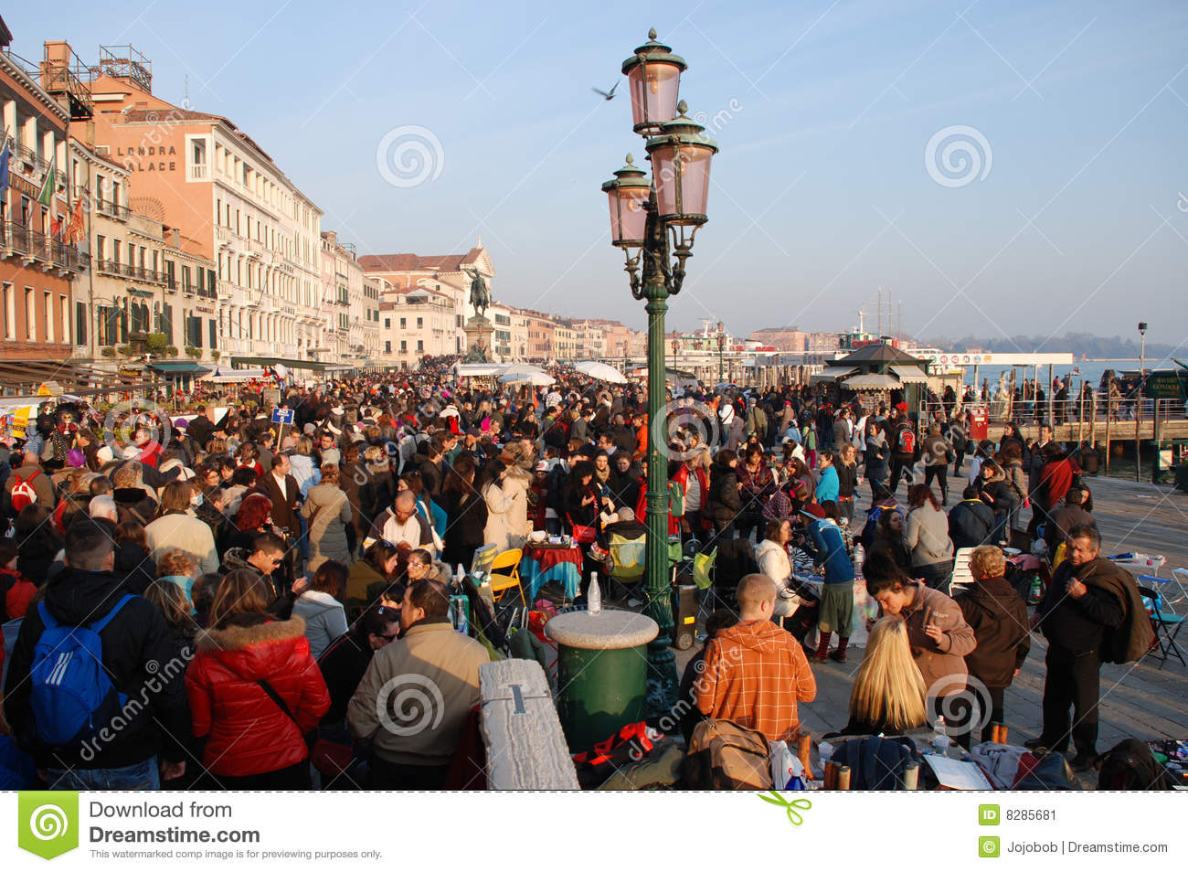 Crowds During Venice Carnival Editorial Photo Image 8285681
