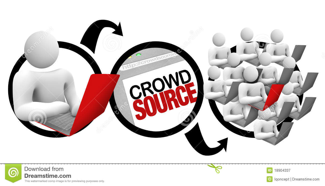 Crowdsourcing     Diagram    Of Crowd    Source    Project Stock