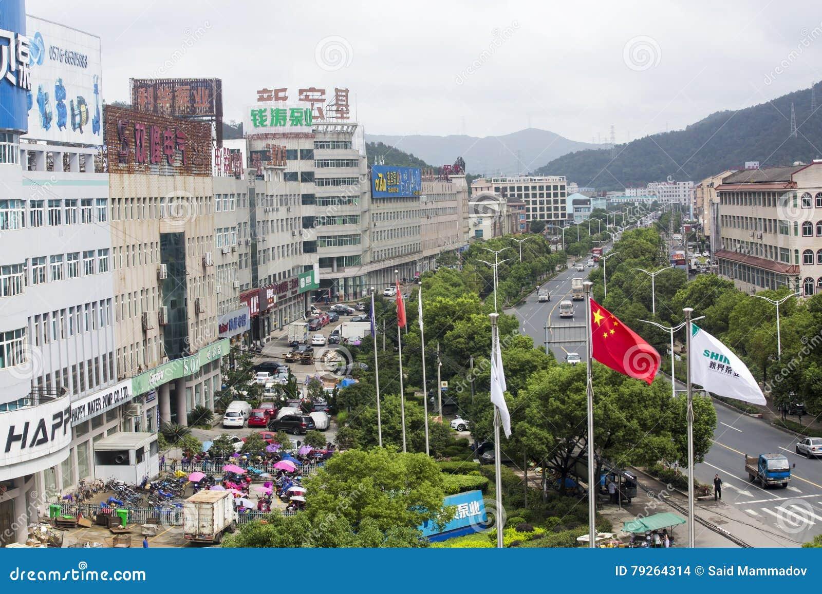Crowdy gata under Pingyao internationell fotografifestival