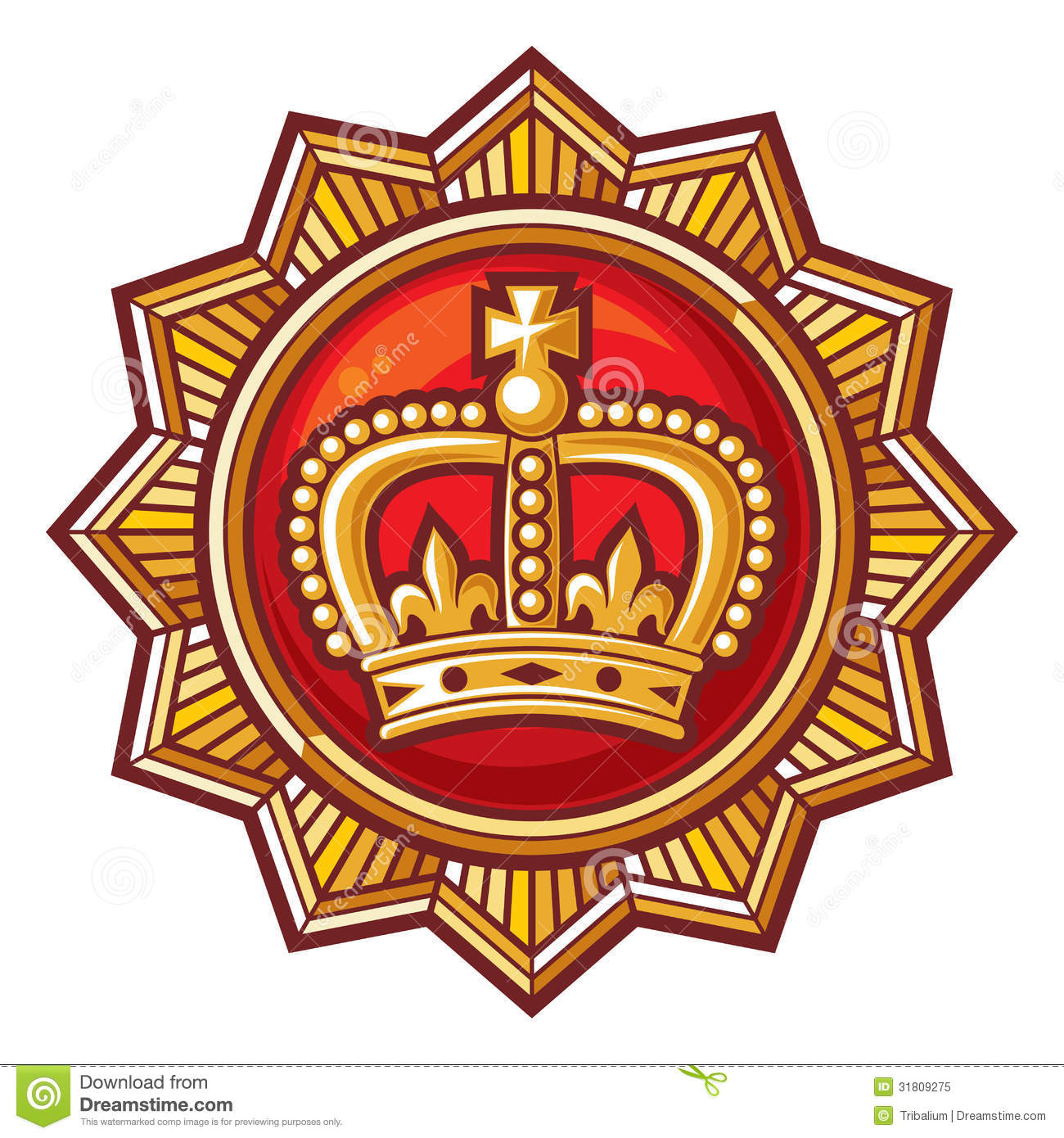 Crown Badge Royalty Free Stock Photo - Image: 31809275