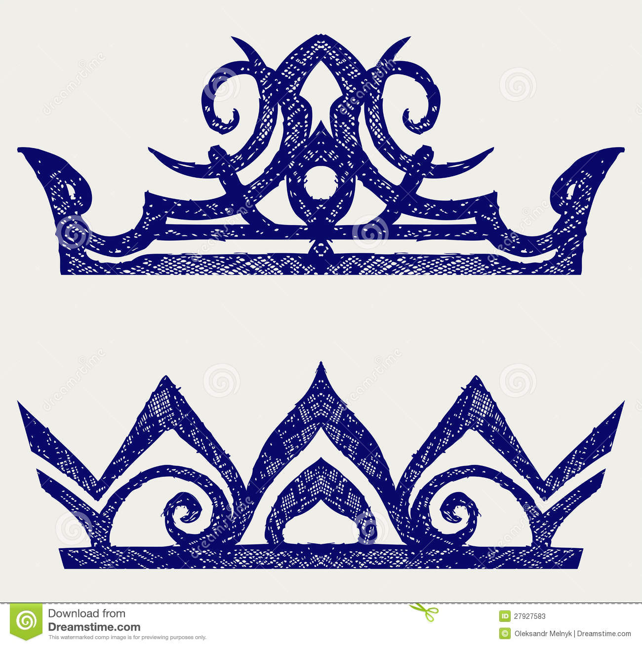 Crown Doodle Style Stock Photos Image 27927583