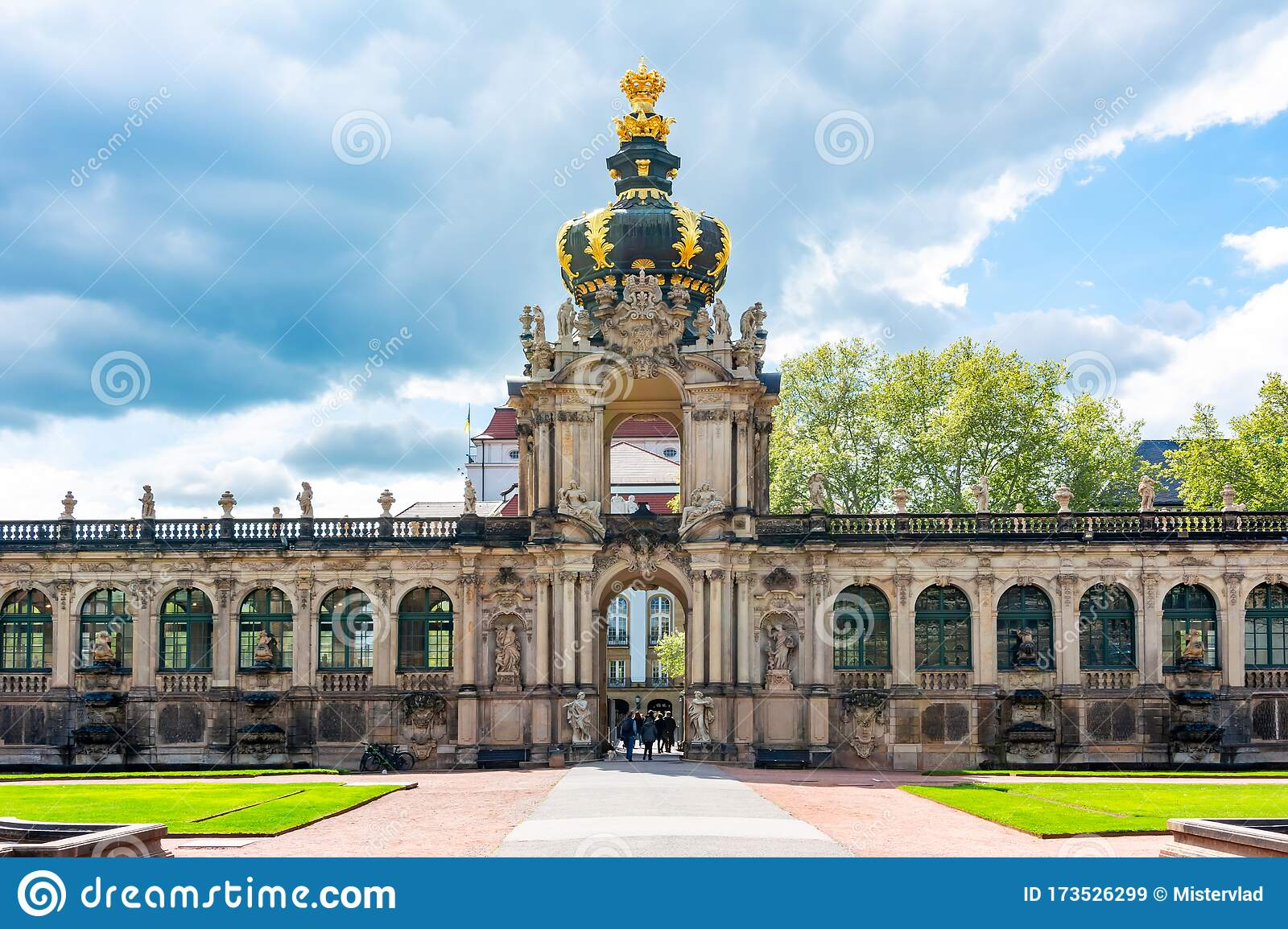 Crown Gate In Dresdner Zwinger Dresden Germany Stock Image Image Of Antique Baroque 173526299
