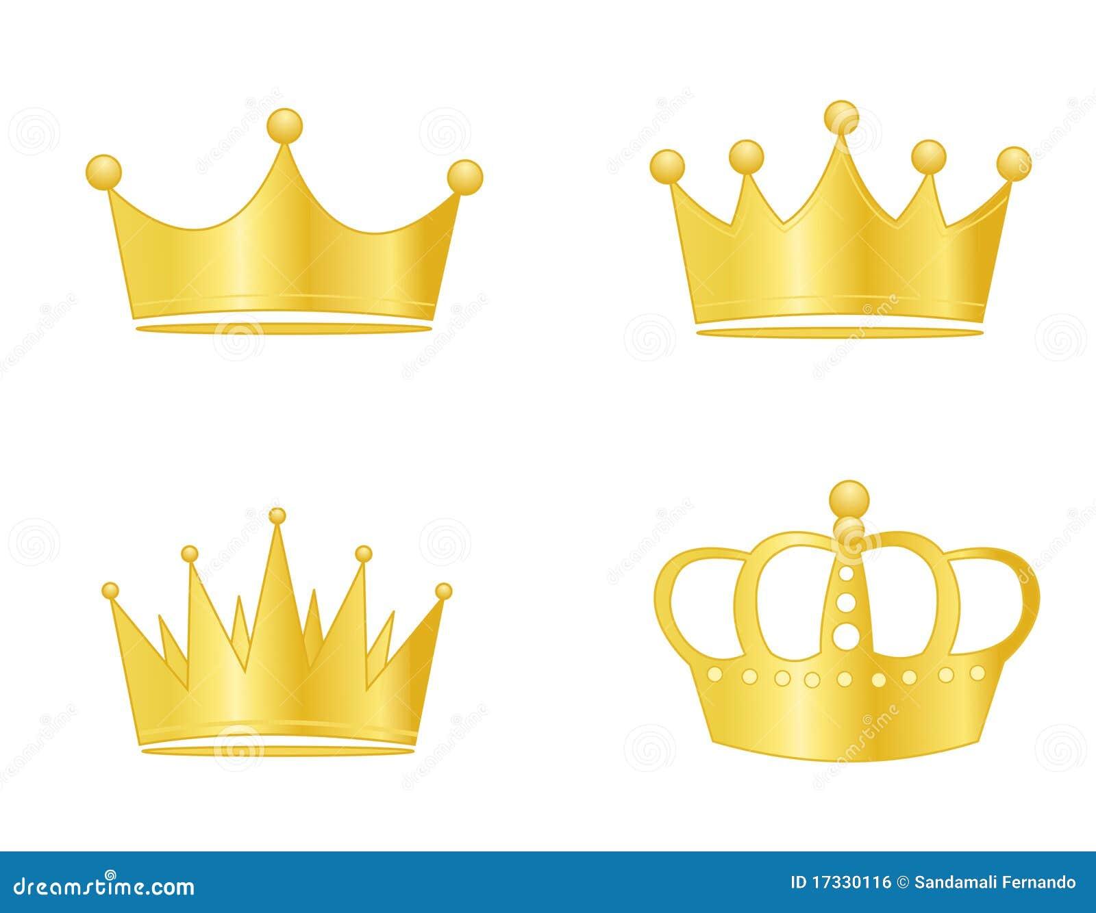 Queen Crown Logo Crown gold
