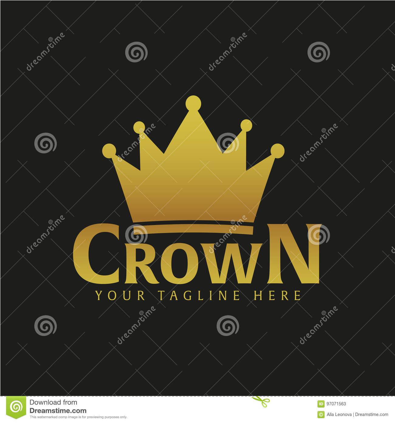 Crown Hotel Logo And Emblem Vector Logo Illustration Stock Illustration Illustration Of Logo Hipster 97071563
