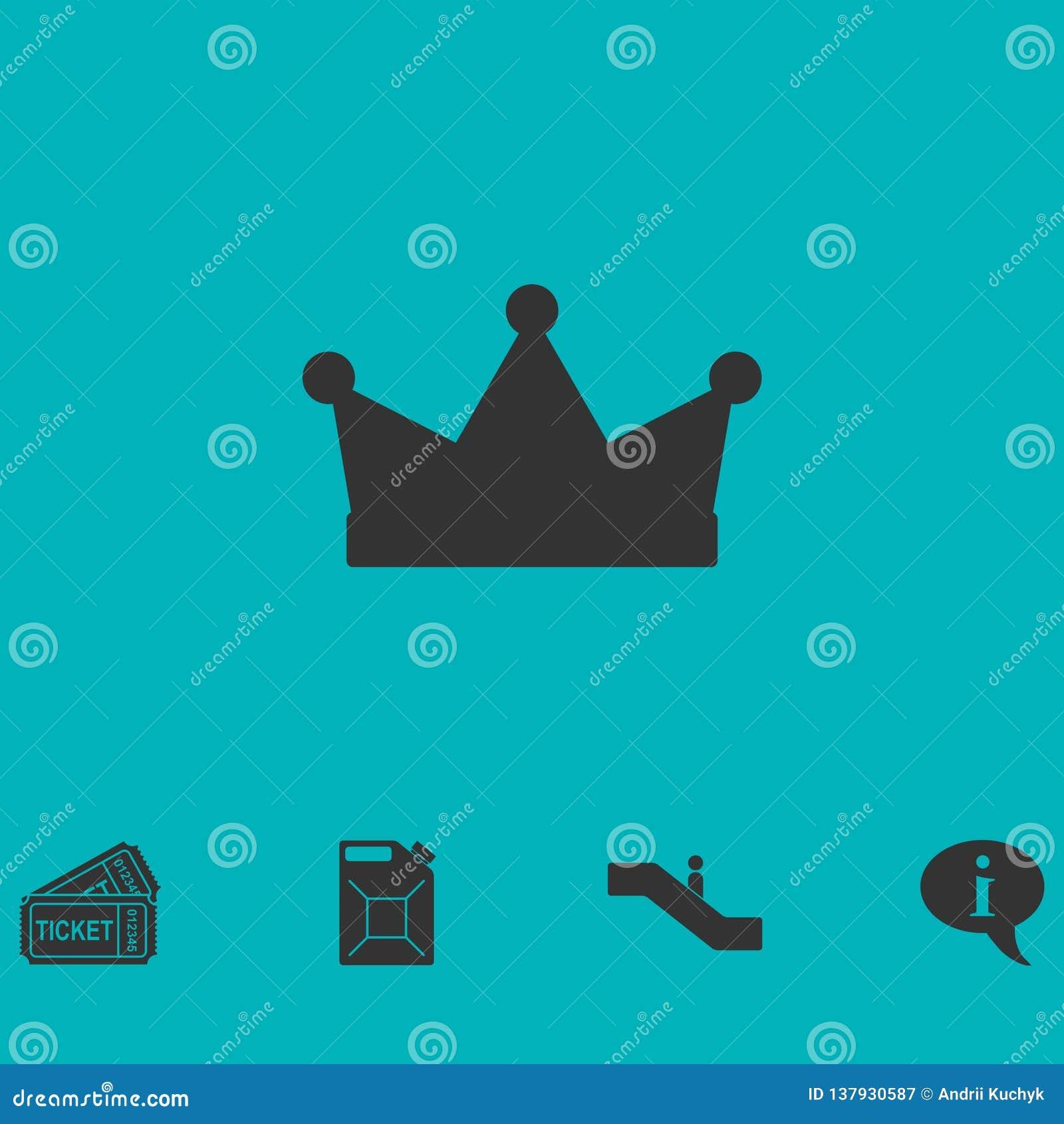 Crown icon flat
