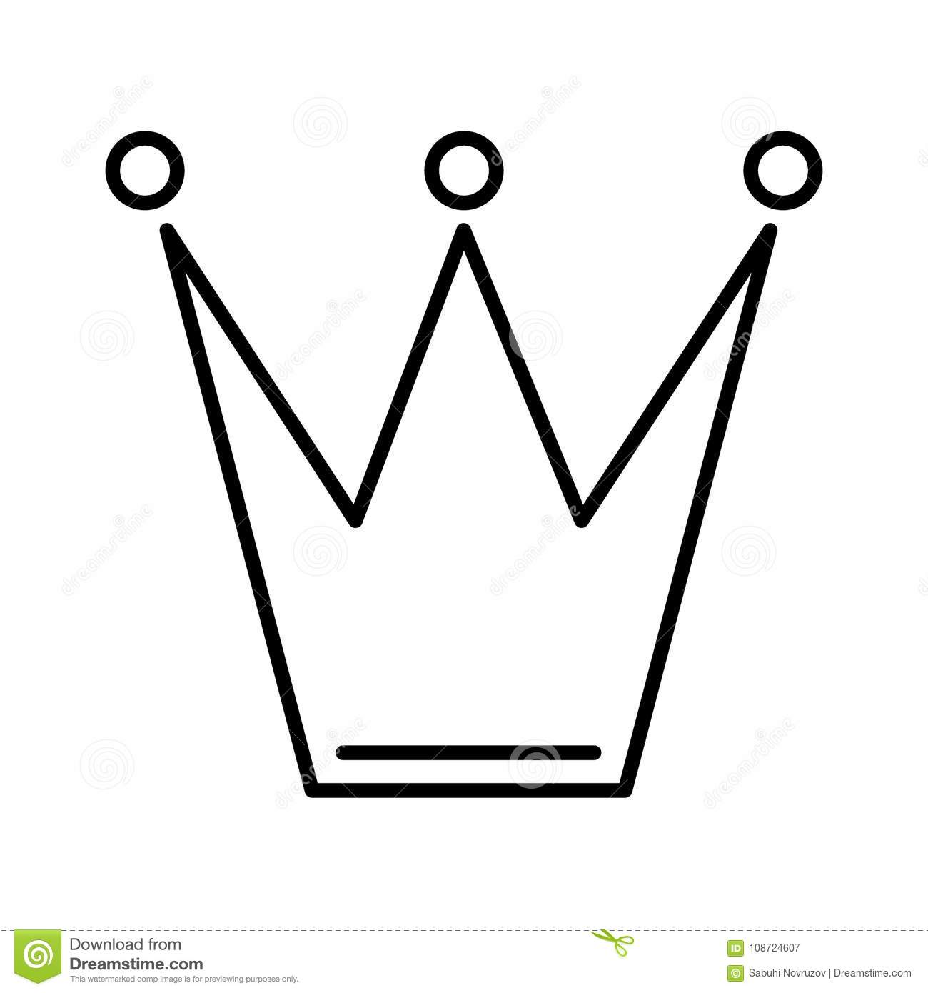Crown Icon In Trendy Flat Style Isolated On White Background Crown