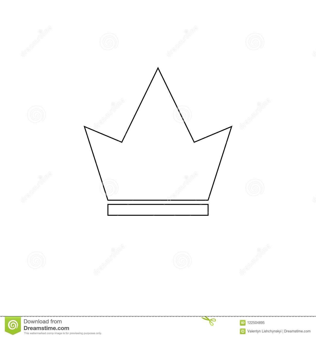 Crown Icon in trendy flat style isolated on white background. Crown symbol for your web site design, logo, app, UI.