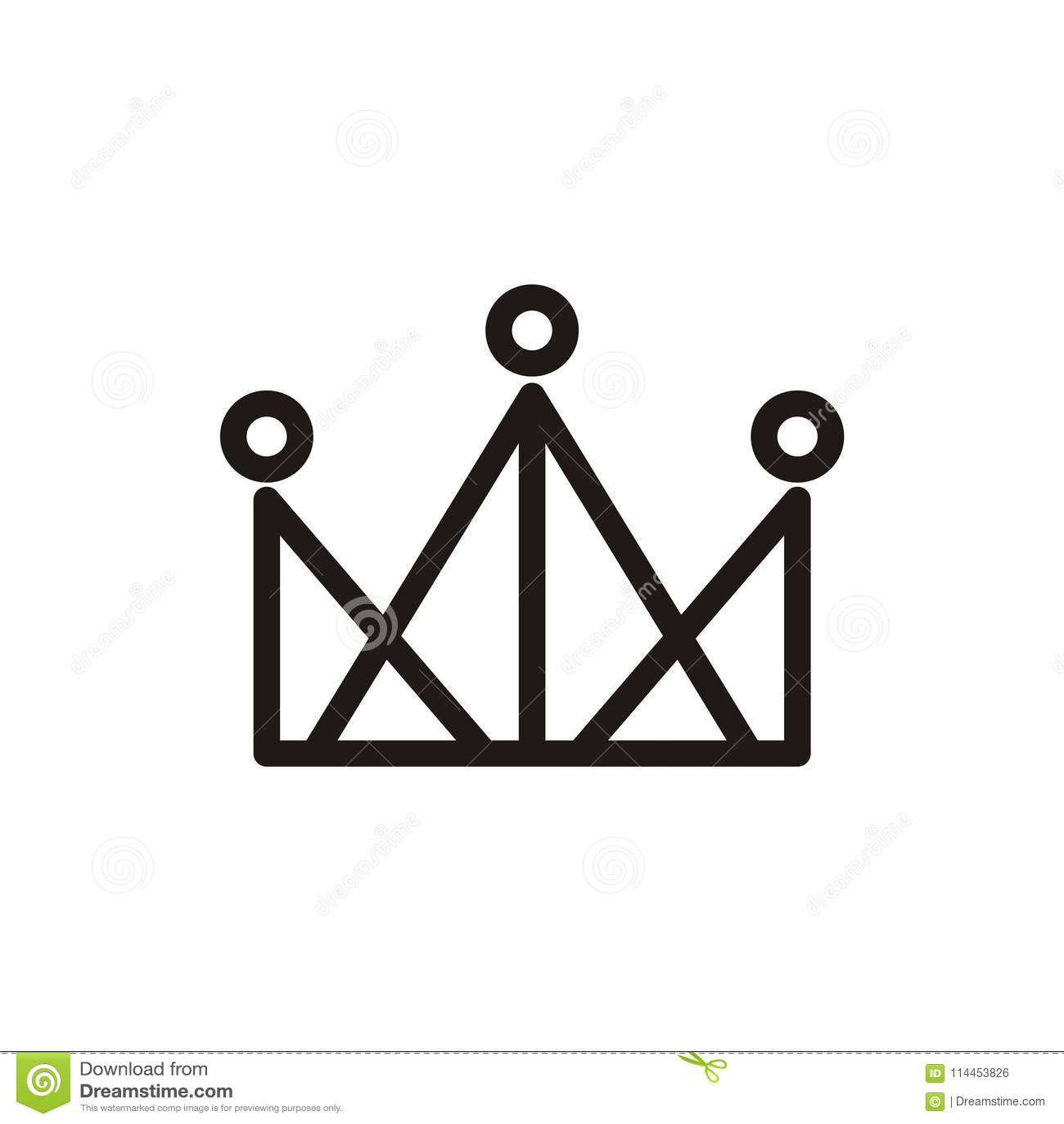 Crown Logo Design Vector Shape And Color Eazy Use Stock Illustration