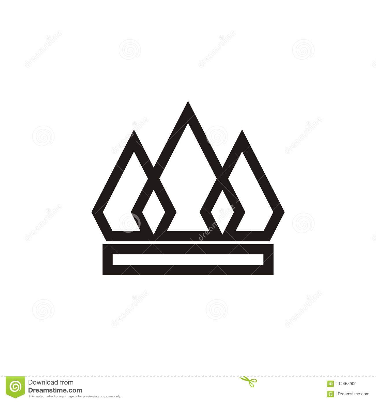 Crown Logo Design Vector Shape And Color Eazy Use Stock