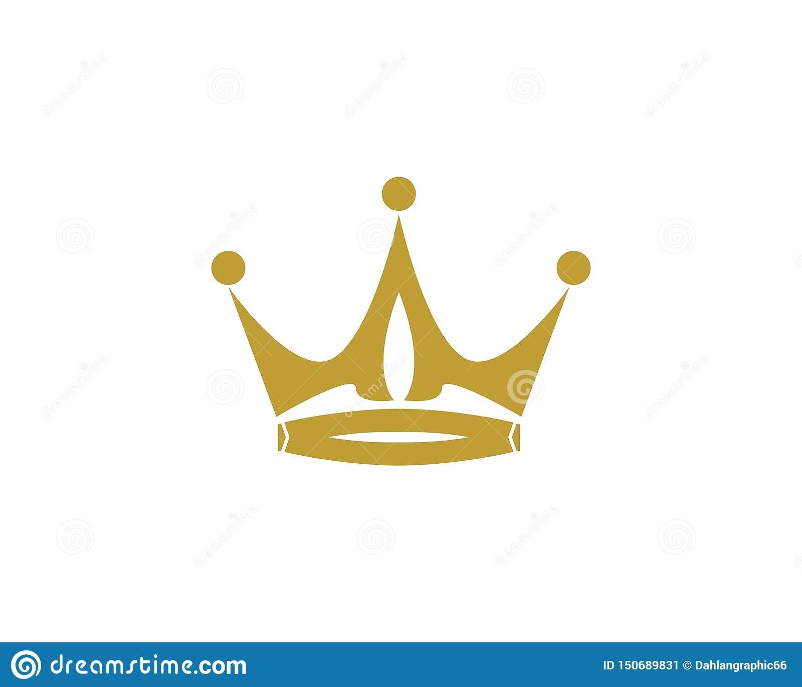 Crown Logo Template Vector Icon Illustration Design Stock