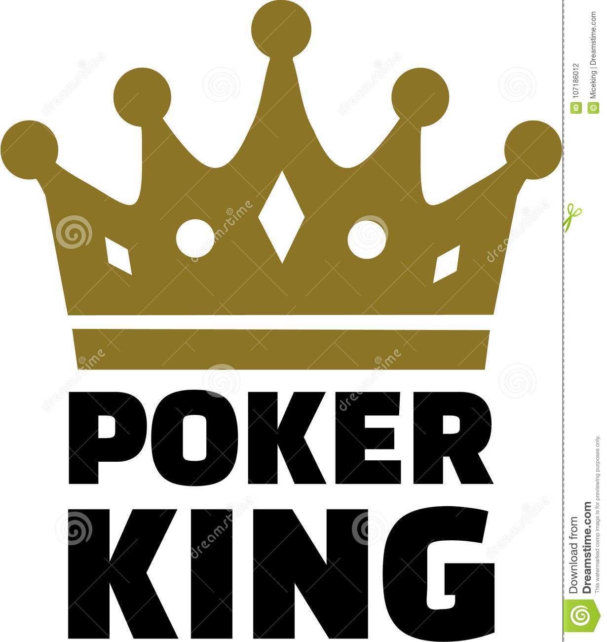 Crown With Poker King Stock Vector Illustration Of Success 107186012